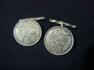 【送料無料】メンズアクセサリ― ヴィンテージ1915191750 tunisiaサンチームカフスリンクposs wwivintage 1915 1917 tunisia 50 centimes silver cufflinks poss wwi trench art