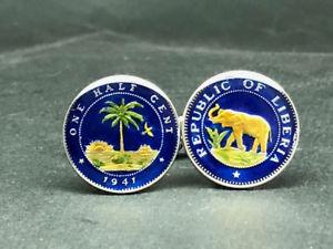 【送料無料】メンズアクセサリ― リベリアコインカフスリンク18mmliberia coin cufflinks, 18mm