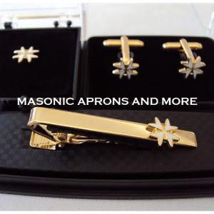 【送料無料】メンズアクセサリ― マルタクロスタイクリップカフリンクセットknights of malta 8 pointed white cross tie clip, cufflinks amp;tiepin setunboxed