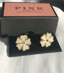 【送料無料】メンズアクセサリ― トーマスピンクカフリンクス thomas pink cufflinks flowers