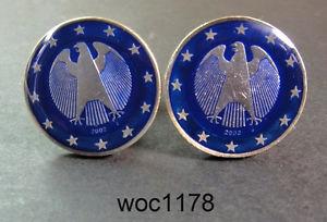 【送料無料】メンズアクセサリ― ドイツコインカフスリンクドルgermany enamelled coin cufflinks dollar eagle