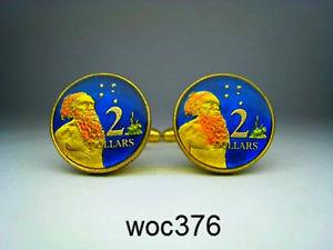 【送料無料】メンズアクセサリ― オーストラリアエナメルコインカフスボタンドルアボリジニaustralia enamelled coin cufflinks 2 dollar aboriginal man