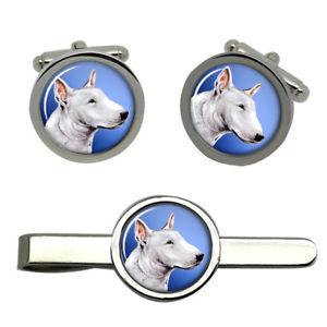 【送料無料】メンズアクセサリ― ブルテリアラウンドタイクリップセットenglish bull terrier round cufflink and tie clip set