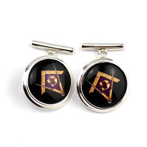 【送料無料】メンズアクセサリ― エナメルコンパスカフスボタンボックスソリッドスターリングシルバーenamel masonic freemasons compass g cufflinks box solid 925 sterling silver