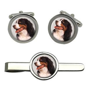 【送料無料】メンズアクセサリ― タイクリップセットbernese mountain dog round cufflink and tie clip set