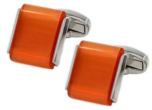 【送料無料】メンズアクセサリ― オレンジカボションメンズウェディングカフカフリンクスリンクorange opaque cabochon gem stone mens wedding gift cuff links cufflinks direct