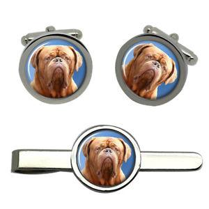 【送料無料】メンズアクセサリ― ボルドーラウンドタイクリップセットdogue de bordeaux round cufflink and tie clip set