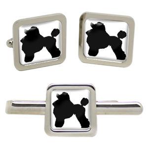 【送料無料】メンズアクセサリ― プードルシルエットタイクリップセットpoodle silhouette square cufflink and tie clip set