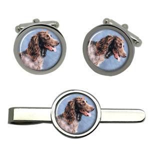 【送料無料】メンズアクセサリ― タイクリップセットpontaudemer spaniel round cufflink and tie clip set