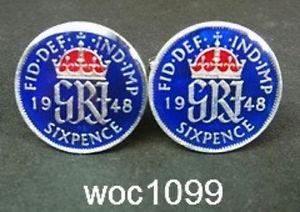 【送料無料】メンズアクセサリ― イギリスコインカフリンクスuk great british coin cufflinks sixpence 1942 1943 1944 1945 1946 1947 1948