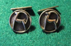 【送料無料】メンズアクセサリ― ビンテージシルバーカフスボタン?925 vintage silver cufflinks ibex aries