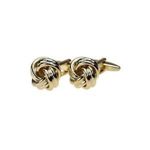 【送料無料】メンズアクセサリ― ダブルコードゴールドノットカフリンクスelica double cord gold knot cufflinks