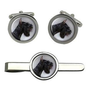 【送料無料】メンズアクセサリ― タイクリップセット listinggiant schnauzer round cufflink and tie clip set