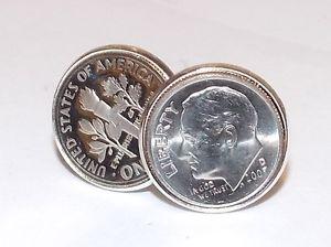 【送料無料】メンズアクセサリ― アメリカセントコインカフスボタンメンズプレゼント1968 american dime coin cufflinks mens 50th birthday gift 50th birthday 1968