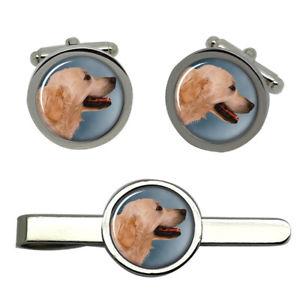 【送料無料】メンズアクセサリ― タイクリップセット listinggolden retriever round cufflink and tie clip set