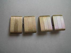 【送料無料】メンズアクセサリ― ビンテージアールデコデザインゴールドフロントチェーンリンクソリッドシルバーカフリンクスvintage art deco design 9ct gold front amp; chain linked solid silver cufflinks