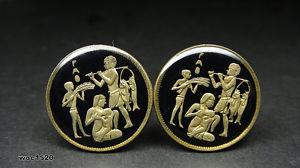 【送料無料】メンズアクセサリ― エジプトコインサイズカフリンクスegypt coin cufflinks choice of size