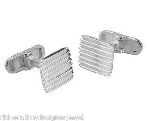 【送料無料】メンズアクセサリ― スターリングシルバーラインカフリンクカフリンクススクエアsterling silver cufflinks square with lines cuff link