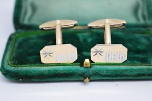 【送料無料】メンズアクセサリ― ビンテージアールデコスターリングシルバーゴールドプレートカフリンクスvintage art deco sterling silver cufflinks with a gold plate b91