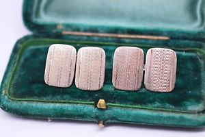 【送料無料】メンズアクセサリ― ビンテージアールデコスターリングシルバーゴールドプレートカフリンクスvintage art deco sterling silver cufflinks with a 9ct gold plate b41