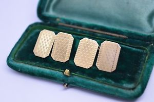 【送料無料】メンズアクセサリ― ビンテージアールデコスターリングシルバーゴールドプレートカフリンクスvintage art deco sterling silver cufflinks with a 9ct gold plate b279