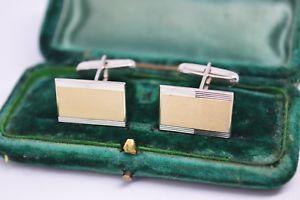 【送料無料】メンズアクセサリ― ビンテージアールデコスターリングシルバーゴールドプレートカフリンクスvintage art deco sterling silver cufflinks with a 9ct gold plate b282