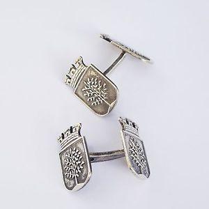【送料無料】メンズアクセサリ― アンティークオランダコートビンテージシルバーアームコペンハーゲンカフスボタンantique vintage silver heraldry of dutch coat of arms copenhagen cufflinks