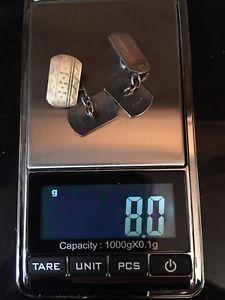 【送料無料】メンズアクセサリ― ヴィンテージゴールドシルバーカフリンクスvintage 9ct gold amp; silver cufflinks