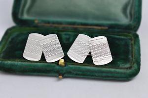【送料無料】メンズアクセサリ― ビンテージスターリングシルバーアールデコデザインカフリンクスvintage sterling silver cufflinks with an art deco design b101