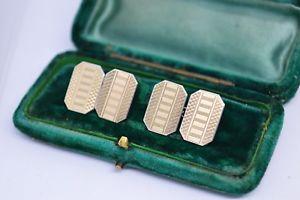 【送料無料】メンズアクセサリ― ビンテージアールデコゴールドプレートスターリングシルバーカフリンクスvintage art deco sterling silver cufflinks with a 9ct gold plate b87