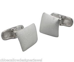 【送料無料】メンズアクセサリ― スターリングシルバーサテンカフリンクカフリンクススクエアsterling silver cufflinks square with satin finish cuff link