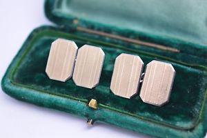 【送料無料】メンズアクセサリ― ビンテージアールデコスターリングシルバーゴールドプレートカフリンクスvintage art deco sterling silver cufflinks with a 9ct gold plate b272