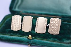 【送料無料】メンズアクセサリ― ビンテージアールデコスターリングシルバーゴールドプレートカフリンクスvintage art deco sterling silver cufflinks with a 9ct gold plate b255