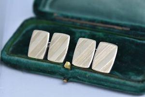 【送料無料】メンズアクセサリ― ビンテージアールデコスターリングシルバーゴールドプレートカフリンクスvintage art deco sterling silver cufflinks with a 9ct gold plate b265