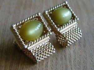 【送料無料】メンズアクセサリ― designerswankvintage wraparound mesh cufflinks lime greenstonesdesigner swank vintage wraparound mesh cufflinks lime green