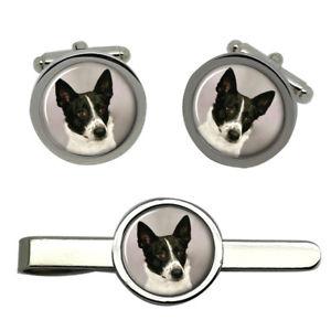 【送料無料】メンズアクセサリ― カナンカフスリンクネクタイピンセットcanaan dog round cufflink and tie clip set