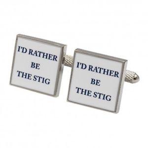 【送料無料】メンズアクセサリ― カフスボタンid rather be the stig cufflinks