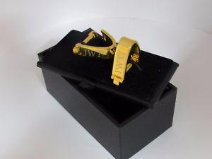 【送料無料】メンズアクセサリ― カフスリンクgwaデラックスラップgold personalised deluxe wrap around engraved wedding cufflinks groom gwa