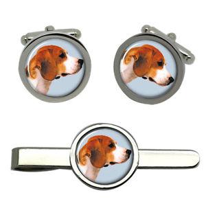 【送料無料】メンズアクセサリ― バセットハウンドカフスリンクネクタイピンセットbasset hound dog round cufflink and tie clip set