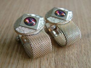 【送料無料】メンズアクセサリ― vintage wraparound mesh cufflinks stunning individual designed topvintage wraparound mesh cufflinks stunning individual de