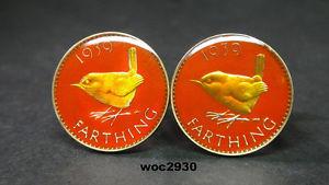 【送料無料】メンズアクセサリ― マッチ19371956ファージングコインカフスリンク19371956 british  farthing coin cufflinks choice of match year