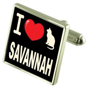 【送料無料】メンズアクセサリ― カフスリンクサヴァナi love my cat cufflinks savannah