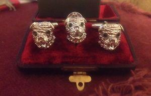 【送料無料】メンズアクセサリ― デザイナーstaffiestaffordshire bull terrier cufflinksno tie studdesigner silver staffie,staffordshire bull terrier cufflinks on