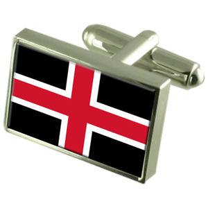 【送料無料】メンズアクセサリ― ダーラムフラグカフスリンクdurham city england flag cufflinks engraved box