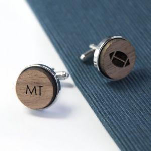 【送料無料】メンズアクセサリ― ラグビーカフスリンク wooden rugby cufflinks personalised
