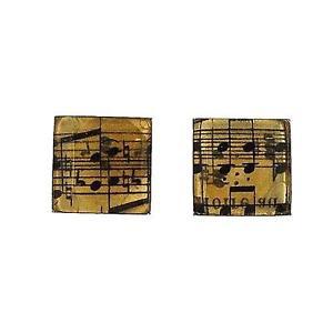 【送料無料】メンズアクセサリ― シートノートカフスボタンtoc gents silvertone sheet music notes cufflinks fj1292