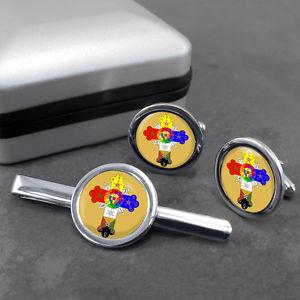 【送料無料】メンズアクセサリ― ボックスローズクロカフスリンクネクタイピンrose cross cufflink and tie clip in gift box