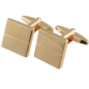 【送料無料】メンズアクセサリ― ローズカフスリンクマットrose gold cufflinks contrast matt polished square