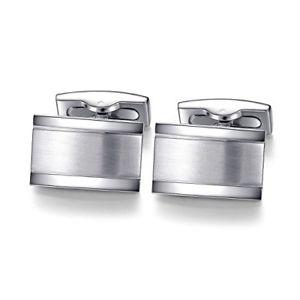 【送料無料】メンズアクセサリ― メンズカフスボタンステンレススチールシルバービジネス honey bear cufflinks for mens rectangle stainless steel silver business