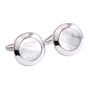 【送料無料】メンズアクセサリ― カフスリンクmother of pearl cufflinks